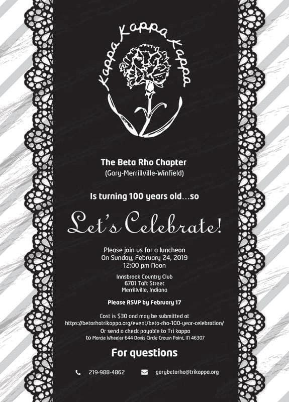 100 year celebration Invitation